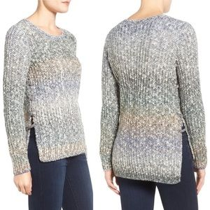 Lucky Brand Ombre Sweater w/Lace up Sides